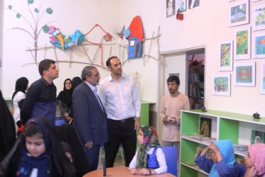 شهردار رفسنجان از کانون پرورش فکری کودکان و نوجوانان بازدید کرد