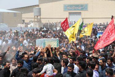 مراسم تشییع شهید مدافع حرم حضرت زینب(س) در رفسنجان / تصاویر