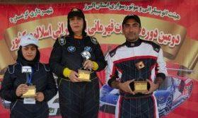 کسب سه سکوی قهرمانی در دومین راند مسابقات کشوری توسط اتومبیلرانان رفسنجانی