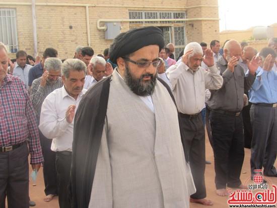 نماز عید سعید فطر در روستای حسن آباد حضرت صادق الائمه علیه السلام نوق رفسنجان