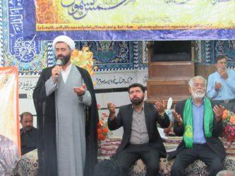 جشن میلاد امام رضا (ع) در صحن امامزاده سید جلال الدین اشرف نوق