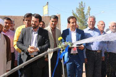 افتتاح طرح انتقال آب به روستاهای محمدآباد و عبدالله آباد رفسنجان