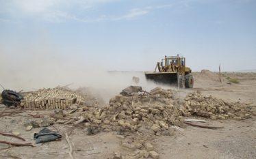 خلع ید و قلع و قمع ۹ هکتار از اراضی ملی توسط مأموران پاسگاه ویژه حفاظت رفسنجان