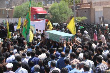 تشییع پیکر شهید مدافع حرم در رفسنجان