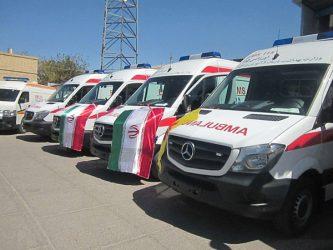 از ۶ دستگاه آمبولانس و اورژانس پزشکی رفسنجان رونمایی شد