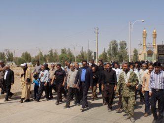 راهپیمایی مردم بخش فردوس در محکومیت جنایات آل سعود و آل خلیفه
