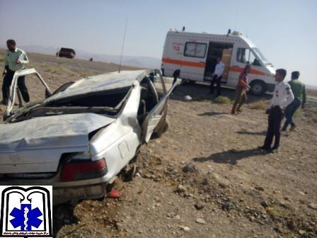 سواری پژو با ۱۸ مسافر افغان واژگون شد / تصاویر