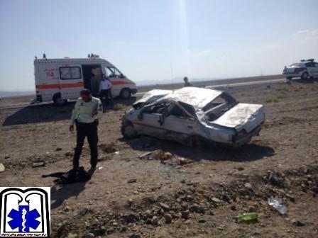 سواری پژو با 18 مسافر افغان واژگون شد در جاده انار