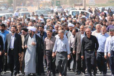 راهپیمایی نمازگزاران رفسنجانی در محکومیت شجره خبیثه آل سعود و آل خلیفه / تصاویر