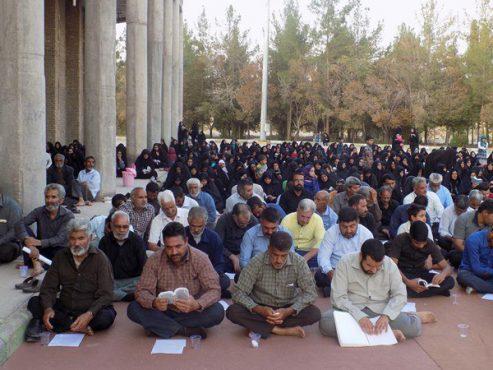 برگزاری مراسم دعای عرفه در جوار امامزاده سیدجلاالدین نوق