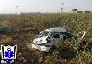 حادثه در محور نوق دو مصدوم برجای گذاشت
