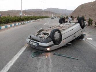 کشته و زخمی شدن ۱۵ تبعه افغانی در واژگونی پژو در رفسنجان / عکس