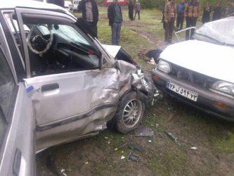 ۱۳ کشته و زخمی در برخورد دو پراید در محور رفسنجان-زرند