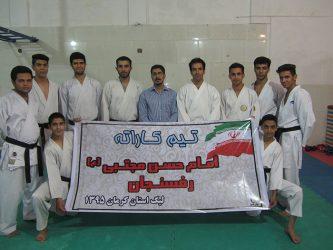 حضور تیم بزرگسالان کاراته رفسنجان در مسابقات لیگ استانی