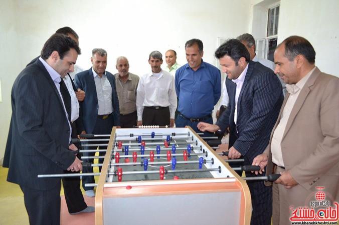 افتتاح سومین خانه ى ورزش روستایی رفسنجان در بخش کشکوئیه