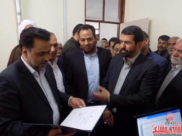 افتتاح دفتر نمایندگی ثبت احوال در بخش نوق رفسنجان