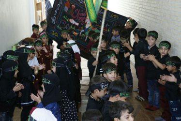 تصاویر عزاداری خردسالان مهد کودک هنگامه در لاهیجان رفسنجان