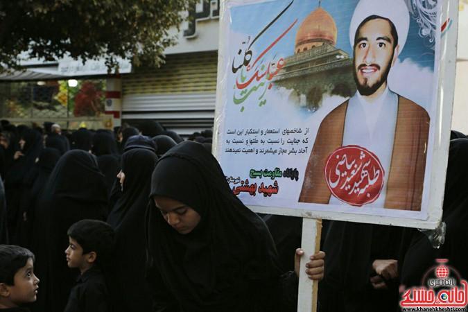 صحنه هایی از تشییع باشکوه شهید مدافع حرم در انار