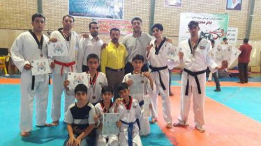 کسب 10 مدال توسط تیم تکواندوی رفسنجان در مسابقات استانی