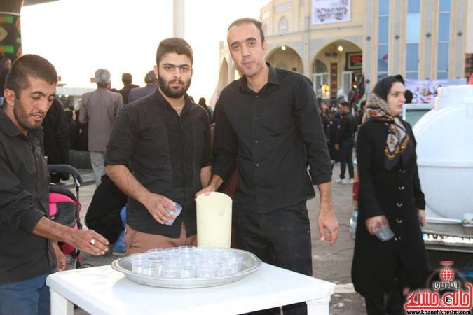 پیاده روی نمادین اربعین عزاداران حسینی در رفسنجان