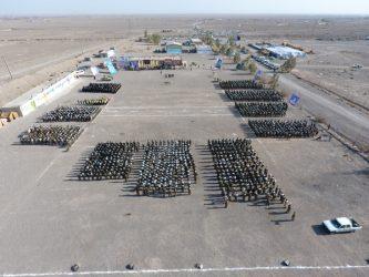 تصاویر هوایی از رزمایش یاوران انقلاب در رفسنجان
