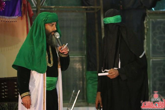 شب پایانی تعزیه خوانی گروه محبان حضرت رقیه(س) در رفسنجان