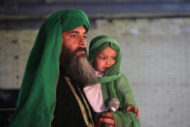 تصاویر شب پایانی تعزیه خوانی گروه محبان حضرت رقیه(س) در رفسنجان