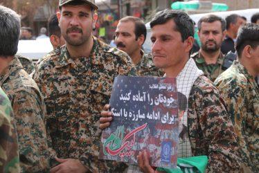 خروش مردم و مسئولین رفسنجان علیه استکبار جهانی در یوم الله ۱۳ آبان
