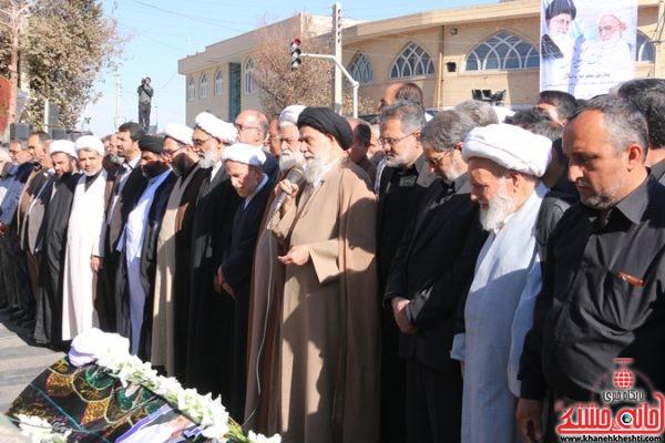 پیکر حجت الاسلام پور محمدی در رفسنجان تشییع و خاکسپاری شد