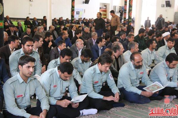 حضور مامورین اتش نشانی رفسنجان در مجلس ترحیم حجتالاسلام حاج شیخ عباس پورمحمدی