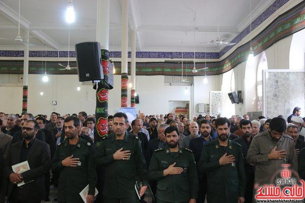 حضور پاسداران سپاه رفسنجان در مجلس ترحیم حجتالاسلام حاج شیخ عباس پورمحمدی