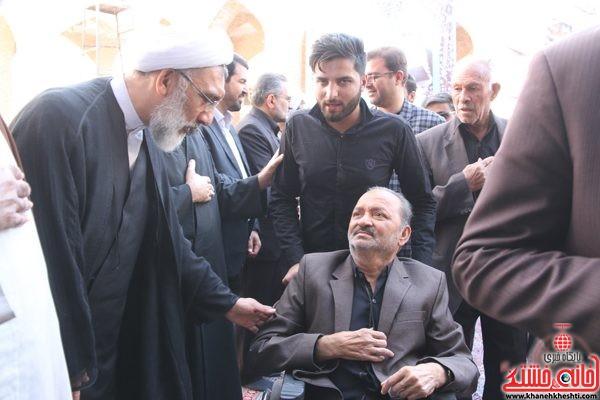 حضور جانباز هندی رفسنجان در مجلس ترحیم حجتالاسلام حاج شیخ عباس پورمحمدی