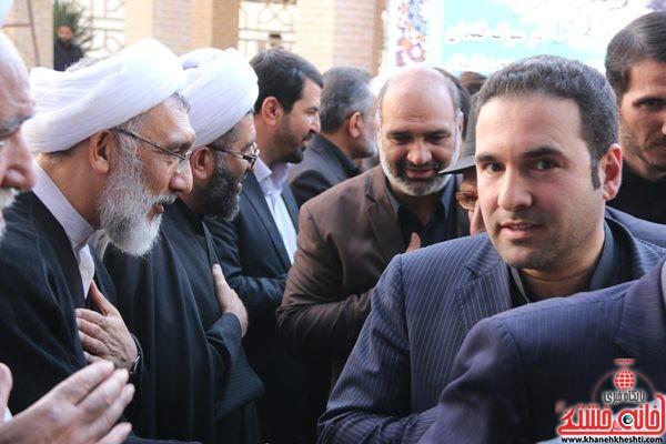 حضور رئیس دانشگاه پیام نور رفسنجان در مجلس ترحیم حجتالاسلام حاج شیخ عباس پورمحمدی