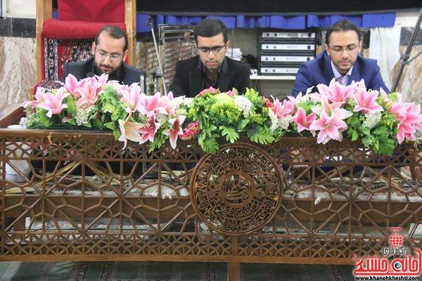 حضور قاریان ممتاز کشوری در مجلس ترحیم حجتالاسلام حاج شیخ عباس پورمحمدی