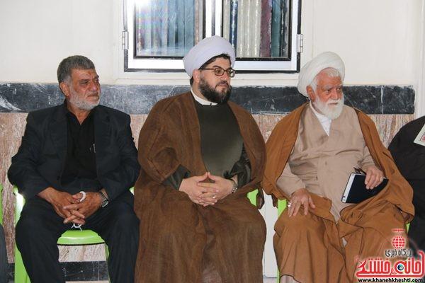 حضور حجت الاسلام علی هاشمیان در مجلس ترحیم حجتالاسلام حاج شیخ عباس پورمحمدی