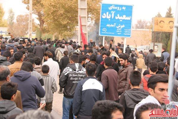پیاده روی اربعین حسینی رهپویان کربلا در رفسنجان