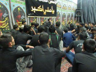 مراسم عزاداری شب شهادت حضرت رقیه(س) درمحله صادقیون رفسنجان + تصاویر