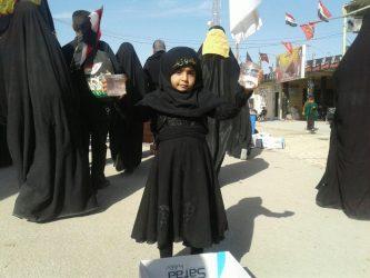 تصاویر از زائران اربعین حسینی در مسیر پیاده روی نجف به کربلا