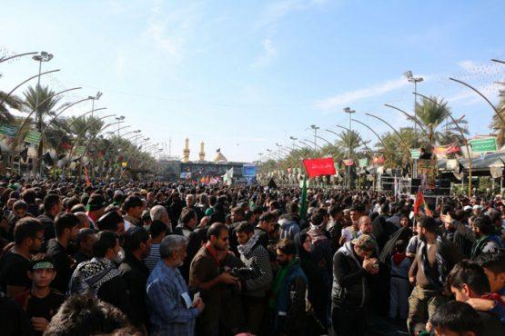 تصاویر دیدنی از پیاده روی اربعین حسینی ارسالی از کربلا