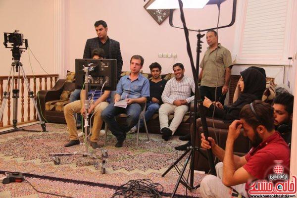 پشت صحنه سبز بخت اولین فیلم نیمه بلند رفسنجان با حضور پرستو صالحی و کارگردانی رضا حسنی رنجبر