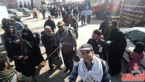 کاروان نواب الشهدای رفسنجان به کربلا رسید