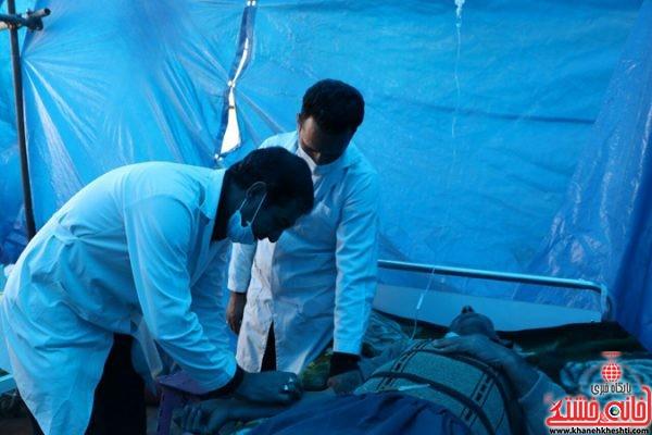ارائه خدمات در بهداری موکب خاتم الانبیاء رفسنجان در کربلا