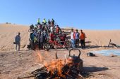 کویر لاهیجان مهمان دوچرخه سواران رفسنجانی/تصاویر