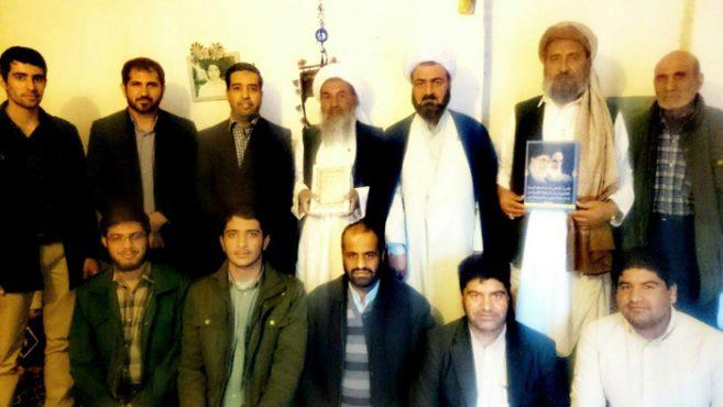 دیدار اعضای هیات میثاق به شهداء با علمای اهل سنت در رفسنجان / عکس