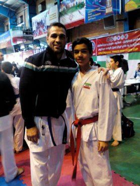حضور درخشان داور و کاراته کا رفسنجانی در مسابقات کاراته جام ایران زمین / عکس