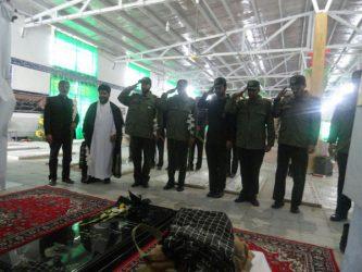 دیدار پاسداران حفاظت هواپیمایی سپاه رفسنجان با خانواده شهید مدافع حرم / تصاویر
