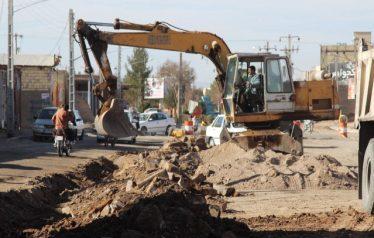عملیات خاکبرداری و جمع آوری آسفالت خیابان ۱۷ شهریور به پایان رسید