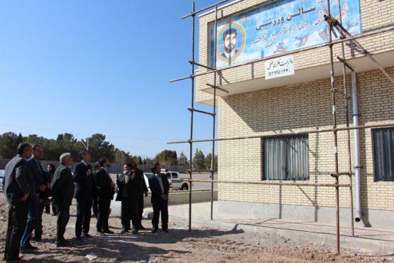 بازدید فرماندار رفسنجان از روند ساخت سالن شهید ابراهیمی پور / تصاویر