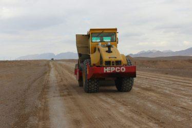 آغازعملیات اجرایی جاده جوادیه فلاح به بافق / عکس