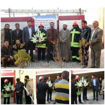 ادای احترام گروه مالک اشتر شهر صفاییه رفسنجان به شهدای آتش نشان / عکس